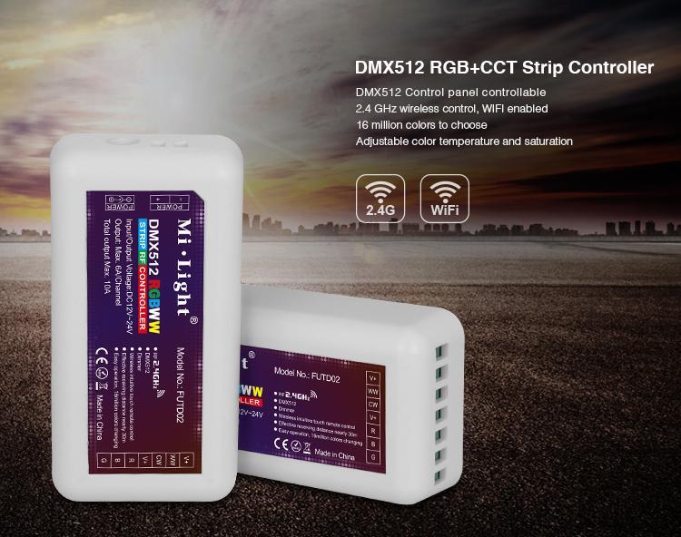 Steuerung, Řadič   MiLight   LLED DMX512 RGB+CCT   FUTD02, Wifi Controller