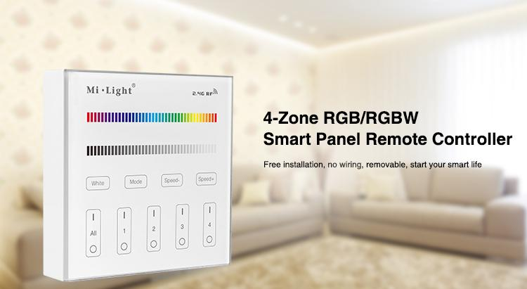MILIGHT Fernbedienung, MILIGHT, MILIGHT - 4-Zone RGB/RGBW Smart Panel Remote Controller - B3 futlight, pilot