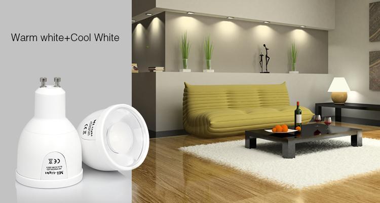 LED bulb MILIGHT - 5W GU10 Dual White LED Spotlight - FUT011