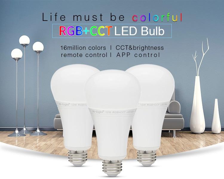 LED bulb MILIGHT- 12W RGB+CCT LED Bulb - FUT105 | Stair-Lighting com