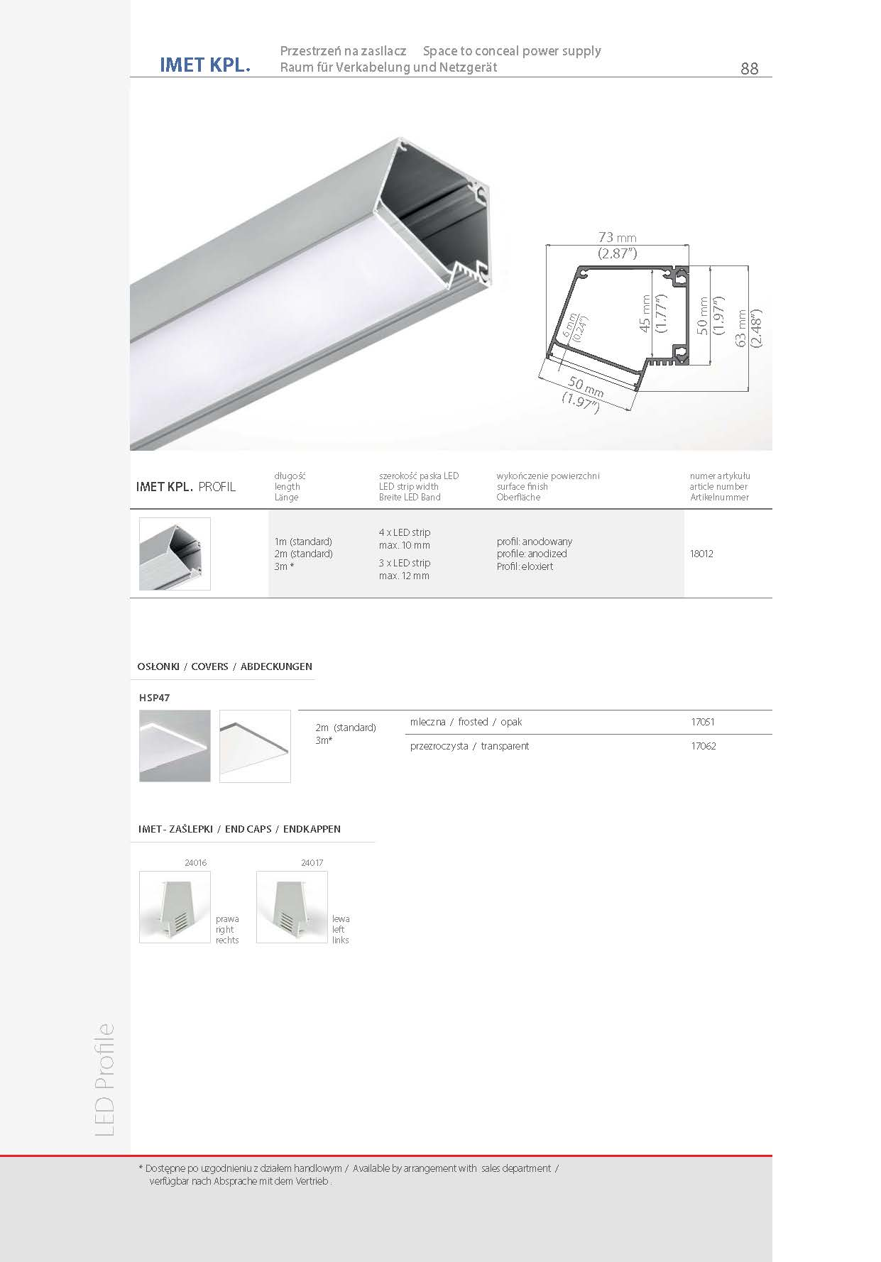 IMET, profile | stair-lighting.com, 18012 profile, IMET klus profile, IMET channel,