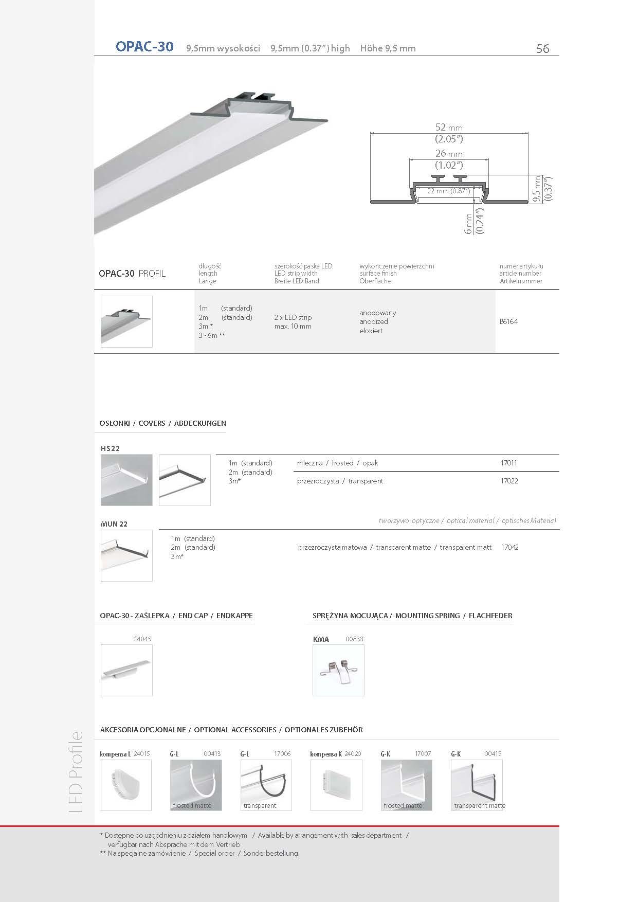 Profiel led opac 30 stair lighting opac 30 profile stair lighting b6164 profile opac stopboris Gallery