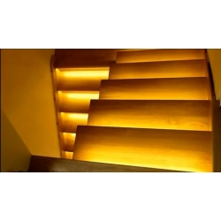 16 stairs - A set of stairs lighting - lighting width 90 cm