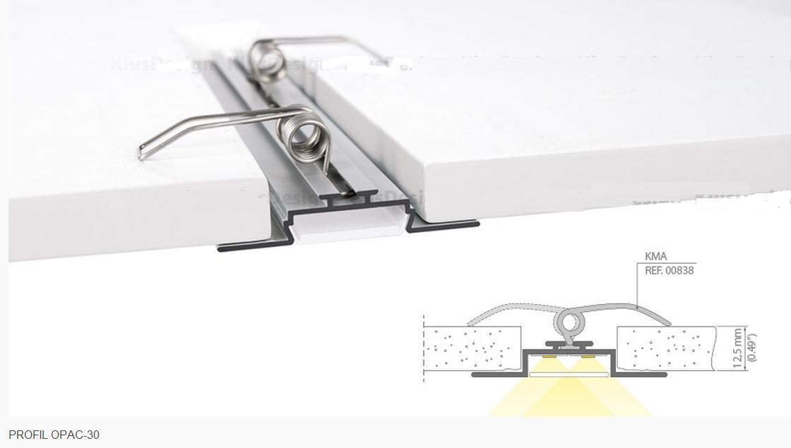 End Cap To Opac 30 Led Profiles Metalized
