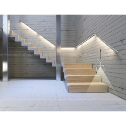 Profile Led Por To The Handrail And Balustrade Stair