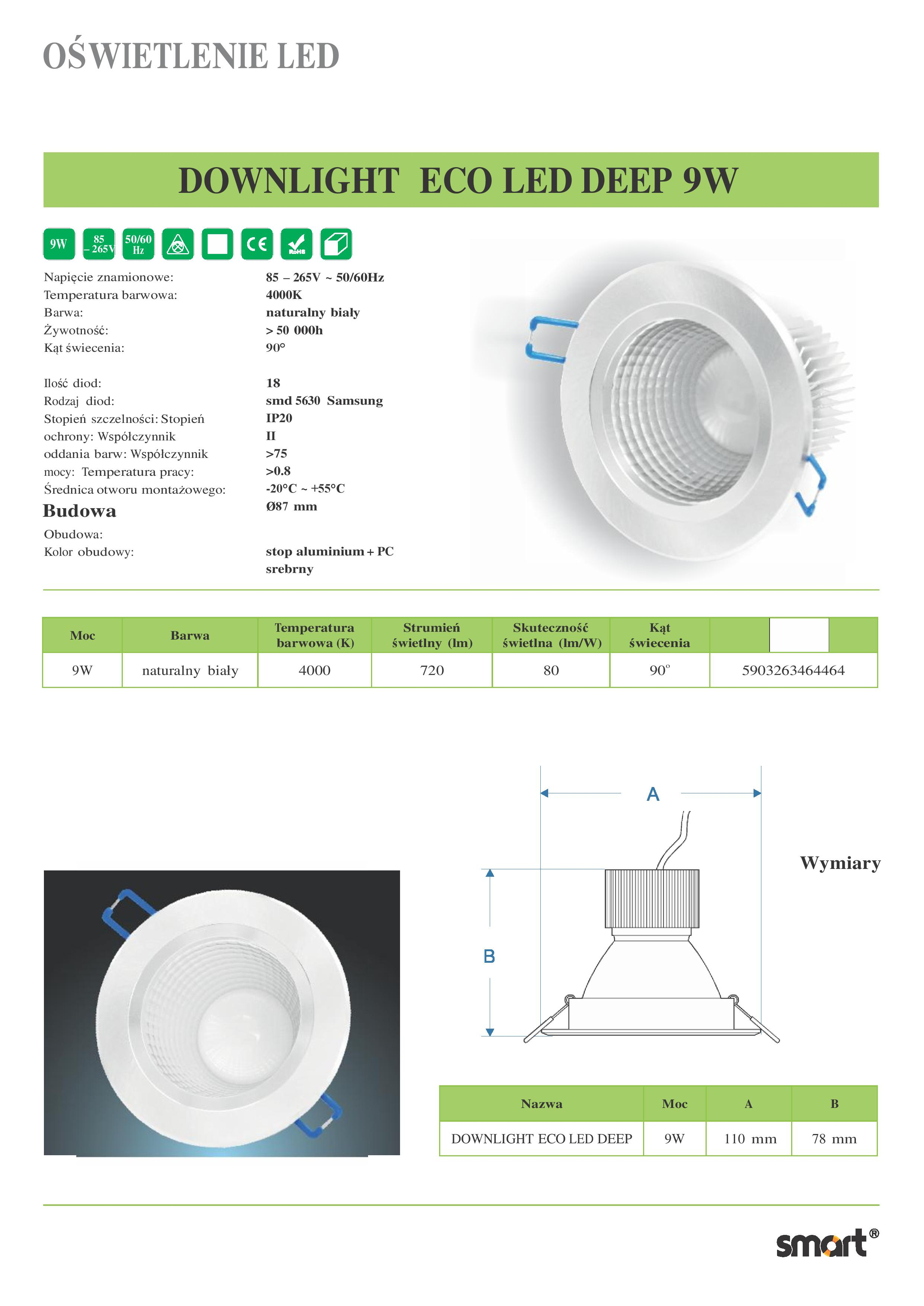 DOWNLIGHT-ECO-LED-DEEP-9W