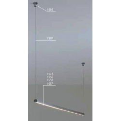 PDS - O - L  electricity conductive light fixture - 1,5 m - transparent cover