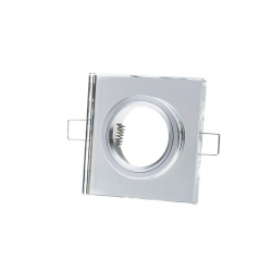 Halogen fixture, ceiling, staircase RES-7003 + square crystal aluminum