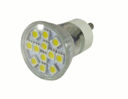 Gu led spot lamp u glass u ° wide angle just led